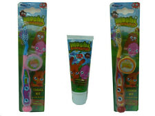 CHILDRENS MOSHI MONSTERS TOOTHBRUSH Tooth Brush TRAVEL KIT or TOOTHPASTE Paste