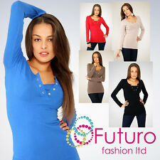 Sexy Blouse with Snaps & Inset Long Sleeve Shirt Top Stretchy Size 8-12 6040