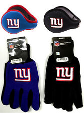 NFL New York Giants 180s Winter Ear Warmers & Utility Glove Holiday Gift Set