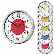 Roco Verre Modern Vintage Roman Polished Cased Wall Clock