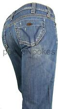 Neu Miss Sixty Damen Jeans Bella Trousers Boy Fit Blau Bootcut JH8S00 Gr W26