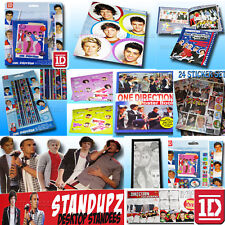 1D ONE DIRECTION DIARY GEL PENS PENCILS BOOKS TATTOO SNACK BOX SWEETS TRUMP CARD