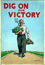Dig For Victory poster  iron on t shirt transfer or sticker wartime