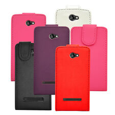 5 Colour Synthetic Leather Flip Case Cover For HTC Windows 8S Mobile Phone NEW