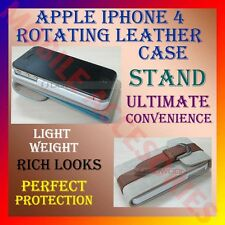 ACM-NEW APPLE IPHONE 4S 4G 360° ROTATING ROTATE BOOK LEATHER COVER CASE STAND