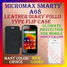 ACM-LEATHER DIARY FOLIO FLIP FLAP CASE for MICROMAX SMARTY A68 MOBILE FULL COVER