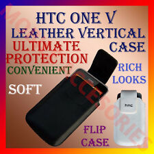 ACM-VERTICAL LEATHER CARRY CASE POUCH COVER for HTC ONE V MOBILE PROTECT HOLDER
