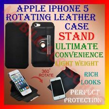 ACM-LATEST APPLE IPHONE 5 360° ROTATING ROTATE BOOK LEATHER COVER STAND POUCH