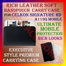 ACM-RICH LEATHER SOFT CARRY CASE CELKON SIGNATURE HD A119Q HANDPOUCH COVER POUCH
