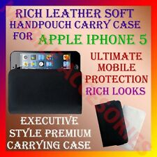 ACM-RICH LEATHER SOFT CARRY CASE for APPLE IPHONE 5 MOBILE HANDPOUCH COVER POUCH