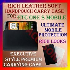 ACM-RICH LEATHER SOFT CARRY CASE FOR HTC ONE S MOBILE HANDPOUCH COVER POUCH NEW