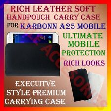 ACM-RICH LEATHER SOFT CARRY CASE for KARBONN SMART A25 MOBILE HANDPOUCH COVER