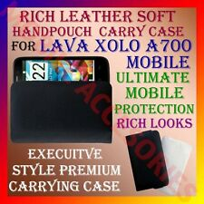 ACM-RICH LEATHER SOFT CARRY CASE for LAVA XOLO A700 MOBILE HANDPOUCH COVER POUCH