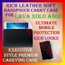 ACM-RICH LEATHER SOFT CARRY CASE for LAVA XOLO A800 HANDPOUCH COVER PROTECTION