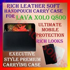 ACM-RICH LEATHER SOFT CARRY CASE for LAVA XOLO Q800 HANDPOUCH COVER HOLDER CASE