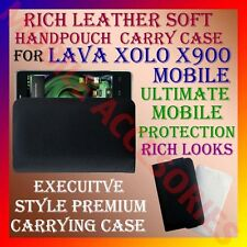 ACM-RICH LEATHER SOFT CARRY CASE for LAVA XOLO X900 MOBILE HANDPOUCH COVER POUCH