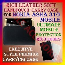ACM-RICH LEATHER SOFT CARRY CASE for NOKIA ASHA 310 MOBILE HANDPOUCH COVER POUCH