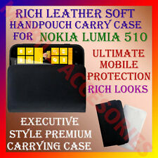 ACM-RICH LEATHER SOFT CARRY CASE for NOKIA LUMIA 510 WINDOWS MOBILE POUCH COVER