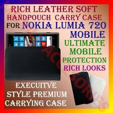 ACM-RICH LEATHER SOFT CARRY CASE for NOKIA LUMIA 720 MOBILE HANDPOUCH COVER NEW