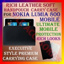 ACM-RICH LEATHER SOFT CARRY CASE for NOKIA LUMIA 800 MOBILE HANDPOUCH COVER NEW