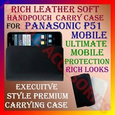 ACM-RICH LEATHER SOFT CARRY CASE for PANASONIC P51 MOBILE HANDPOUCH COVER LATEST