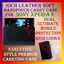 ACM-RICH LEATHER SOFT CARRY CASE for SONY ERICSSON XPERIA E DUAL HANDPOUCH COVER