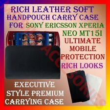 ACM-RICH LEATHER CARRY CASE for SONY ERICSSON XPERIA NEO MT15i HANDPOUCH COVER