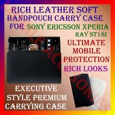 ACM-RICH LEATHER CARRY CASE for SONY ERICSSON XPERIA RAY ST18i HANDPOUCH COVER