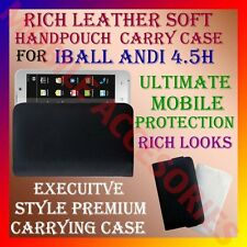 ACM-RICH LEATHER SOFT CARRY CASE IBALL ANDI 4.5H MOBILE HANDPOUCH COVER HOLDER