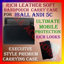 ACM-RICH LEATHER SOFT CARRY CASE IBALL ANDI 5C MOBILE HANDPOUCH COVER HOLDER NEW