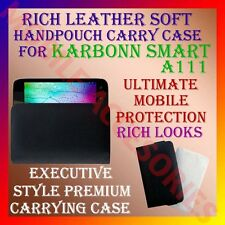 ACM-RICH LEATHER SOFT CARRY CASE fo KARBONN SMART A111 MOBILE HANDPOUCH COVER
