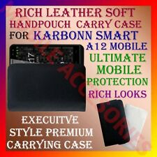 ACM-RICH LEATHER SOFT CARRY CASE for KARBONN SMART A12 MOBILE HANDPOUCH COVER