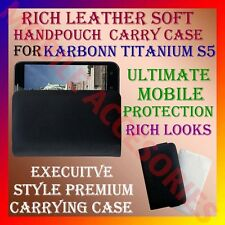 ACM-RICH LEATHER SOFT CARRY CASE KARBONN TITANIUM S5 MOBILE HANDPOUCH COVER CASE