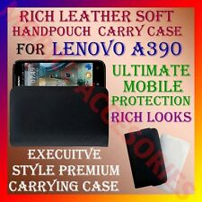 ACM-RICH LEATHER SOFT CARRY CASE LENOVO A390 MOBILE HANDPOUCH COVER PROTECTION