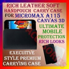 ACM-RICH LEATHER SOFT CARRY CASE for MICROMAX A115 CANVAS 3D MOBILE POUCH COVER