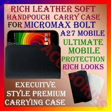 ACM-RICH LEATHER SOFT CARRY CASE for MICROMAX BOLT A27 MOBILE HANDPOUCH COVER