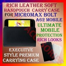 ACM-RICH LEATHER SOFT CARRY CASE for MICROMAX BOLT A62 MOBILE HANDPOUCH COVER