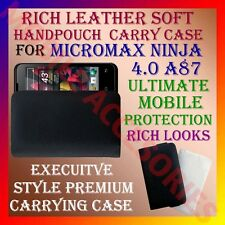ACM-RICH LEATHER SOFT CARRY CASE MICROMAX NINJA 4.0 A87 MOBILE HANDPOUCH COVER