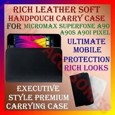 ACM-RICH LEATHER SOFT CARRY CASE MICROMAX SUPERFONE A90 A90S HANDPOUCH COVER NEW