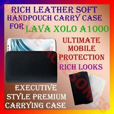 ACM-RICH LEATHER SOFT CARRY CASE of LAVA XOLO A1000 HANDPOUCH COVER POUCH HOLDER