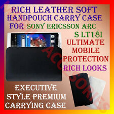 ACM-RICH LEATHER SOFT CARRY CASE of SONY ERICSSON XPERIA ARC S LT18i HANDPOUCH