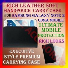 ACM-RICH LEATHER SOFT CARRY CASE SAMSUNG GALAXY NOTE 2 CDMA HANDPOUCH COVER CASE