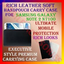 ACM-RICH LEATHER SOFT CARRY CASE SAMSUNG GALAXY NOTE 2 N7100 HANDPOUCH COVER
