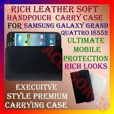 ACM-RICH LEATHER SOFT CARRY CASE for SAMSUNG GALAXY GRAND QUATTRO i8550 POUCH