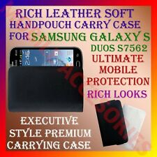 ACM-RICH LEATHER SOFT CARRY CASE SAMSUNG S DUOS S7562 MOBILE HANDPOUCH COVER NEW