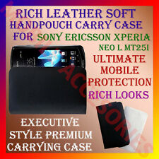 ACM-RICH LEATHER SOFT CARRY CASE SONY ERICSSON XPERIA NEO L MT25i HANDPOUCH CASE