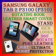 "ACM-SAMSUNG TAB 2 7"" P3100 P310 360° ROTATING LEATHER COVER CASE STAND ROTATE"