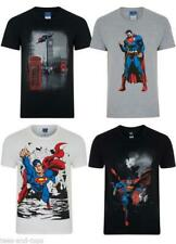 NEW SUPERMAN COMIC T-SHIRT OFFICIAL MERCHANDISE MAN OF STEEL SHORT SLEEVE TEE