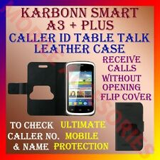 ACM-CALLER ID TABLE TALK CASE for KARBONN SMART A3+ PLUS FLIP COVER POUCH LATEST