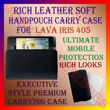 ACM-RICH LEATHER SOFT CARRY CASE LAVA IRIS 405 MOBILE HANDPOUCH COVER PROTECTION